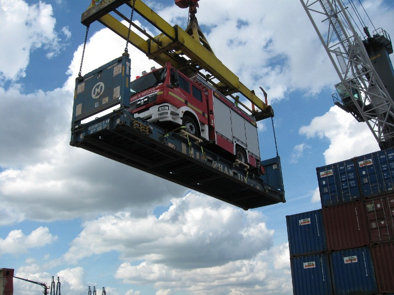 Import container kraan